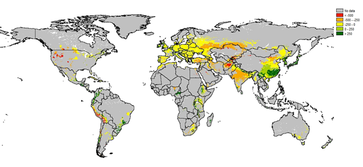 In most potato growing environments in the world, even in rain-fed regions there often is a precipitation deficit during the growing season. Where drought is severe, irrigation is applied whenever possible.