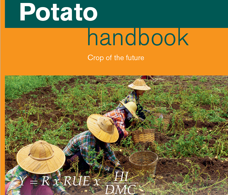 The front of the Potato handbook features the production formula