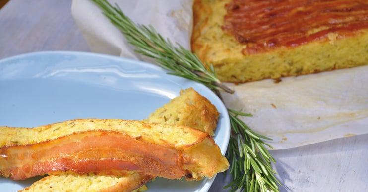 Potato-onion-bacon bread from the oven
